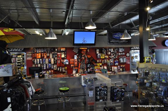 Parts Department at Renegade Sports